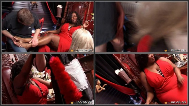 Big Black Mistress, Cross-dressing fun with gay slaves