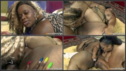 Lesbian BBBW #14, Huge black well-oiled lesbians