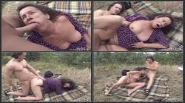 Granny Gets Rough Surprise Sex In Forest