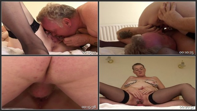 Granny With Vaginal Piercings Gets Dick