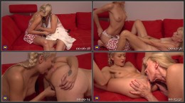 Old and young lesbians playing with eachother HD
