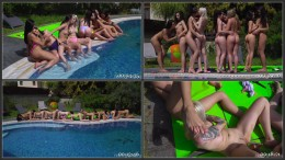 Real Agent party lesbian circle HD