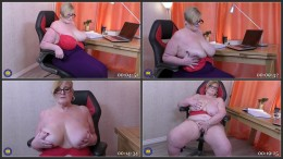 British big breasted housewife Jay playing with herself (1080)