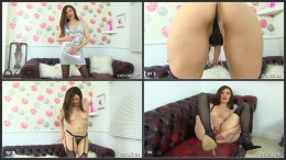 British housewife Kitty Cream playing with herself (1080)