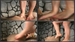 Bare Feet Smack And Trample