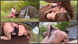 Tattooed tits camp n piss
