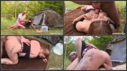 Tattooed tits camp n piss