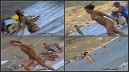 Russian beach voyeur