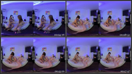 Small Lolly Smoking Chilling With Miss Pussycat Watching Vr Porn And Getting Pussy Played With 1